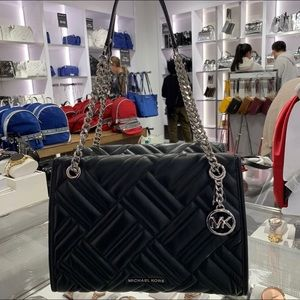 Michael Kors Kathy Large Quilted Satchel